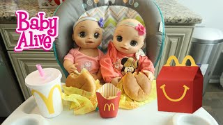 BABY ALIVE Twins First McDonal's Happy Meal baby alive videos