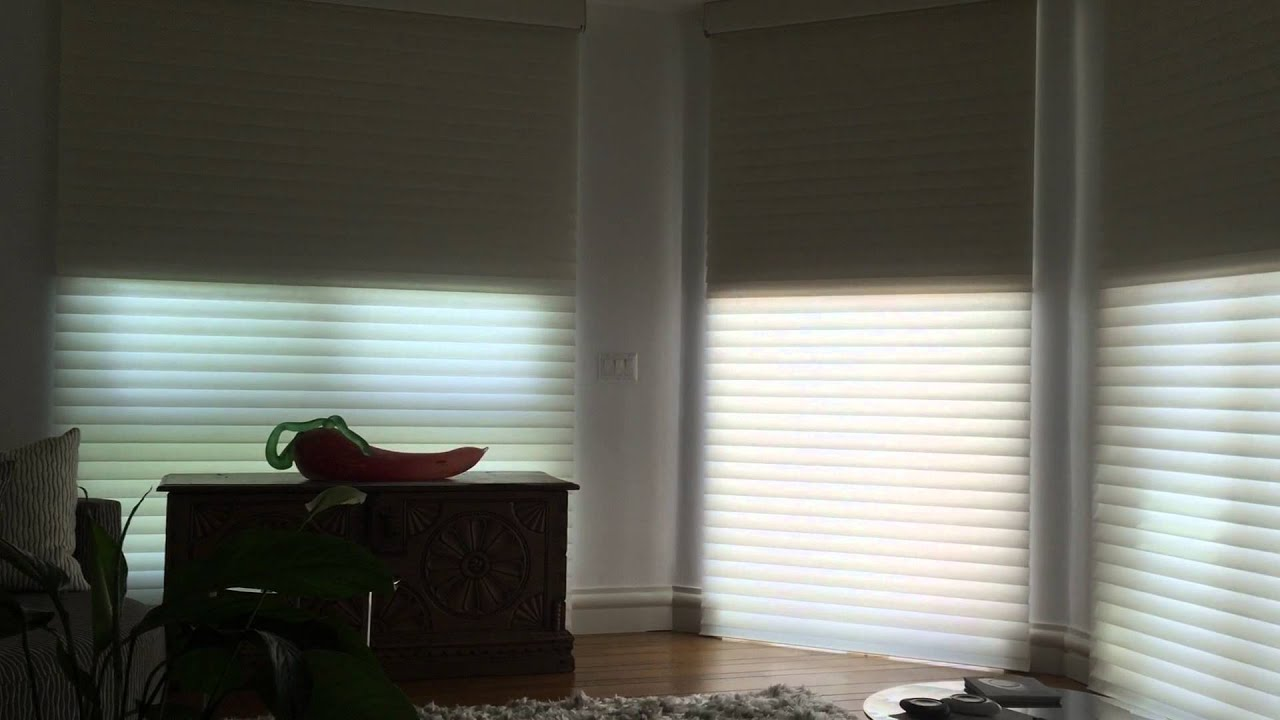 Powerview motorized shades by hunter douglas youtube for Hunter douglas motorized blinds parts