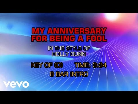 Holly Dunn - My Anniversary For Being A Fool (Karaoke)