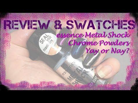 Drugstore chrome powders?! Yay or nay? essence Metal Shock nail powders
