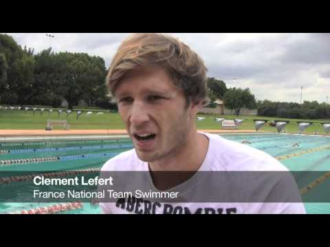 French Olympic swimmers train in Pretoria