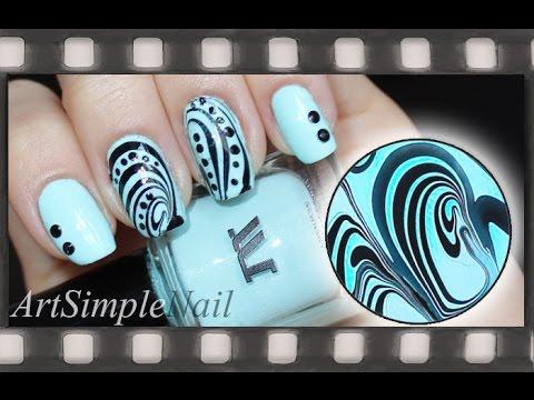Водный маникюр. Как сделать наклейки для ногтей из маникюра на воде | Water Marble Manicure