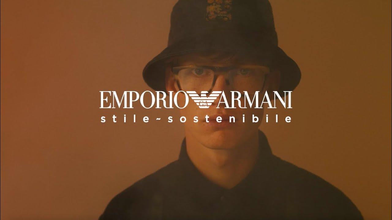 Emporio Armani Eyewear FW21-22 - stile sostenibile
