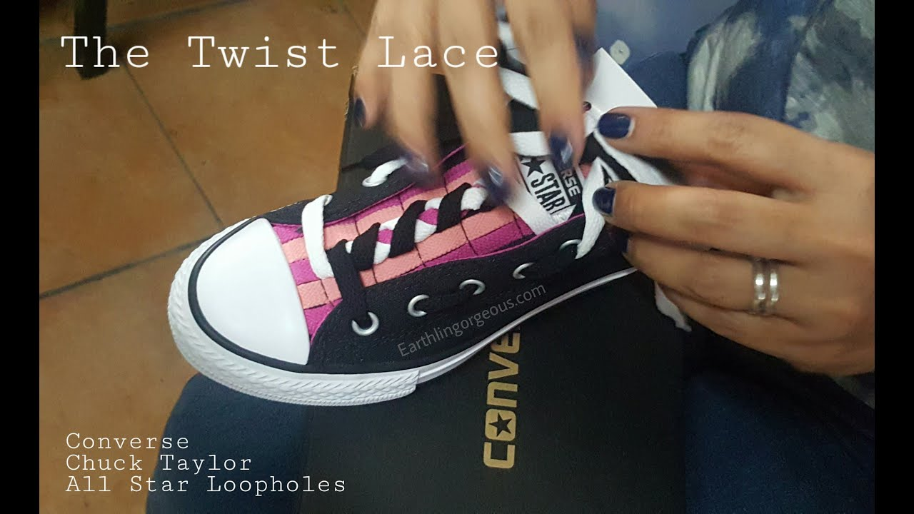 a00721f86f64 How to Make the The Twist Lace for Converse Loopholes - YouTube