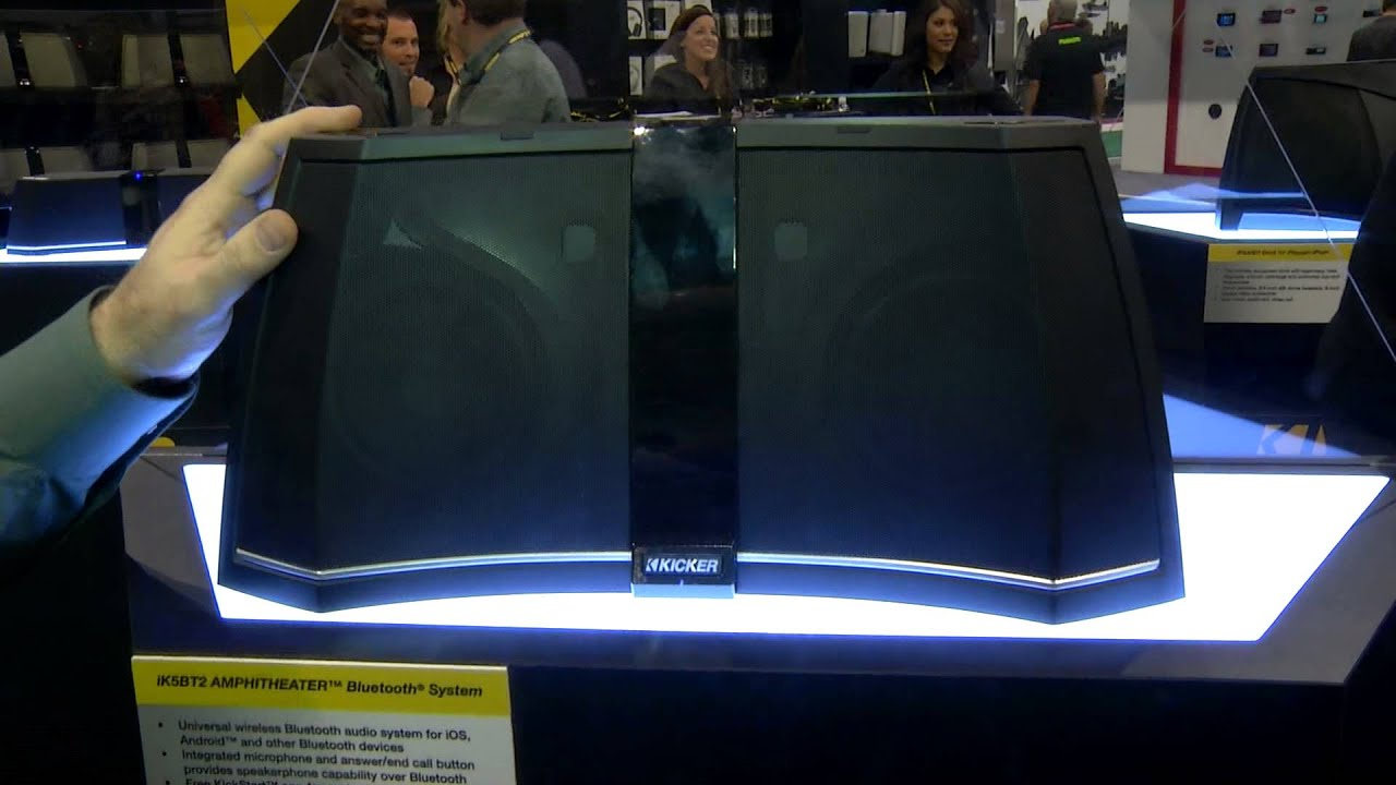 The Kicker Speaker Dock Lineup From Ces 2013 Youtube