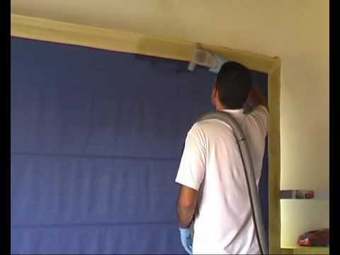 Dry cleaning of roman blind.avi