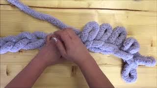 HAND KNIT A JUMBO CHENILLE BLANKET