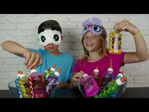 3 COLORS OF GLUE SLIME CHALLENGE