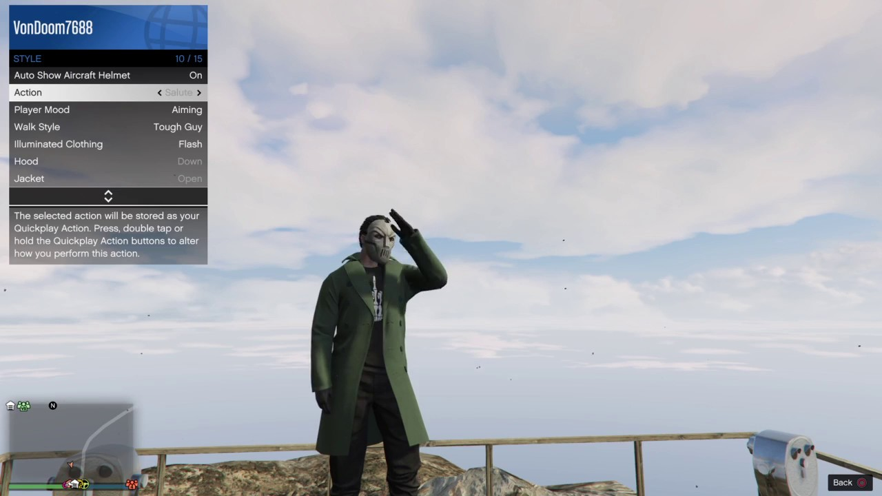 Grand Theft Auto V On The Mountain Top Youtube