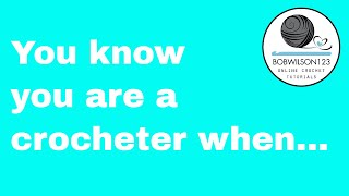 You know you are a crocheter when .... #crochet #crochetlover #yarnlover
