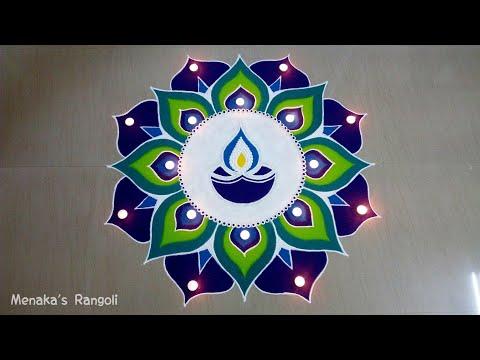 Beautiful Diwali Rangoli Design thumbnail