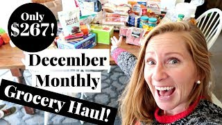 December 2017 Holiday Grocery Haul on a Budget | Tips to Save on Holiday Grocery Shopping!