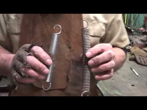 Blacksmithing - Experimenting With Tempering Springs