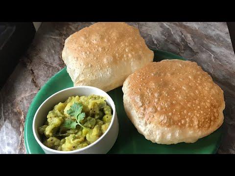 Hotel style poori and potato curry recipe poori aur aloo masala recipe south Indian style