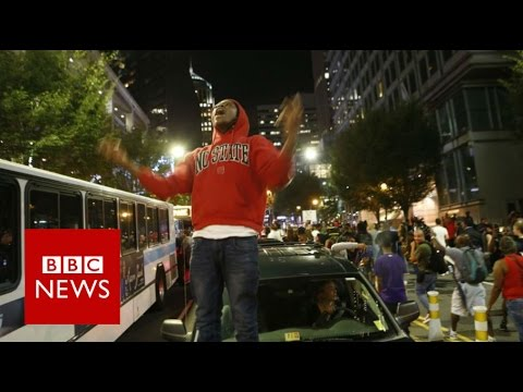 Charlotte street protests prompt state of emergency  - BBC News
