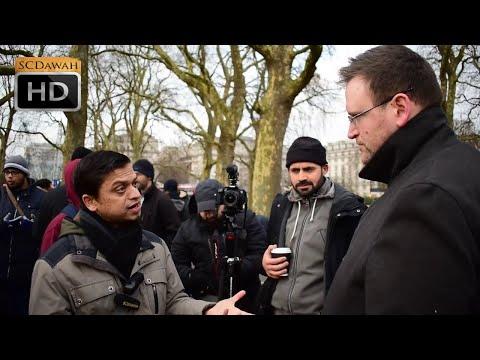 Atheists Are depressed! Mansur vs Atheist    Speakers Corner   Hyde park