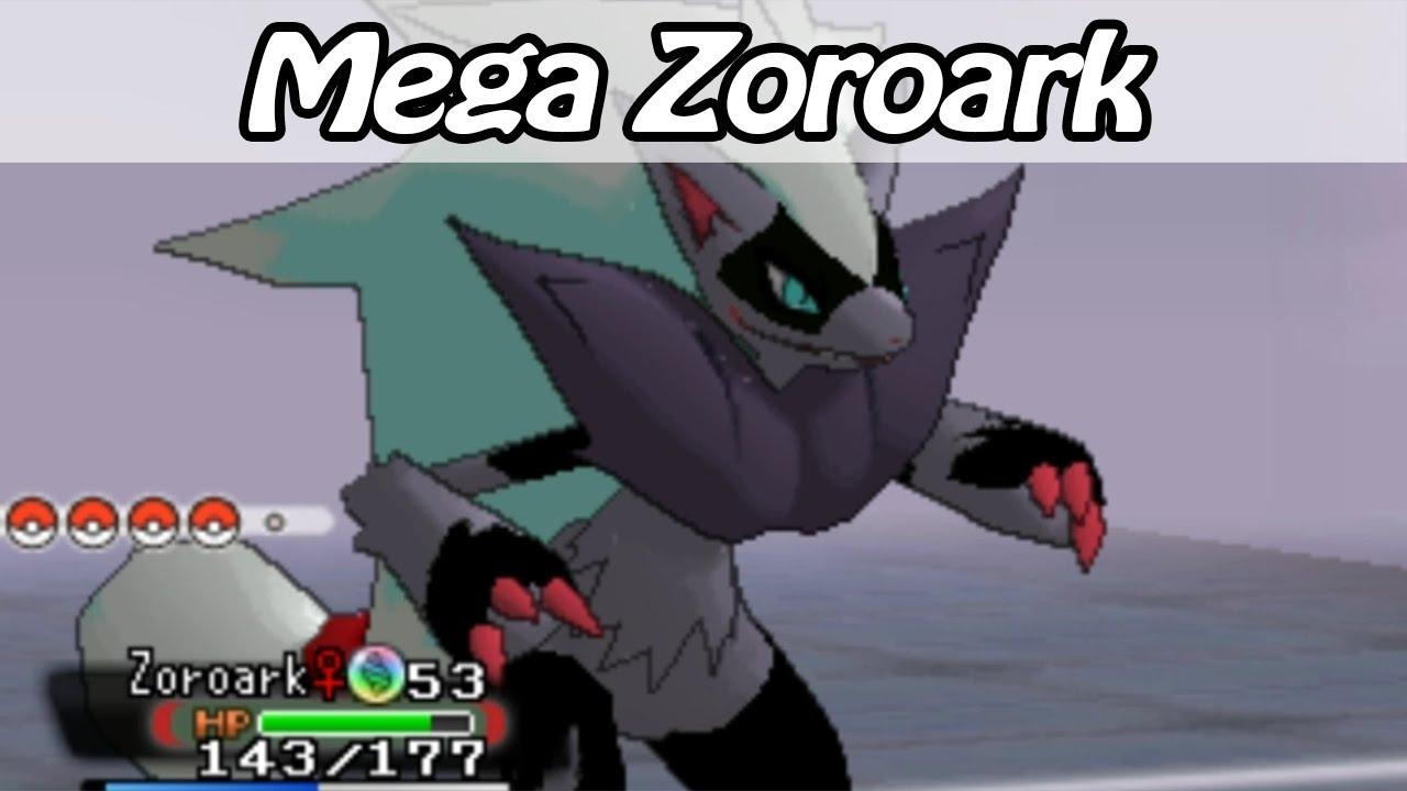 Mega Zoroark Pokemon Omega Ruby And Alpha Sapphire Hack Youtube