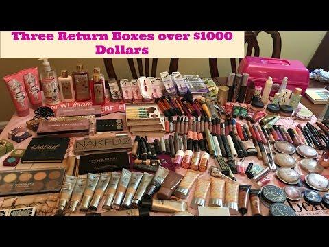 Three return boxes over $1000 dollars