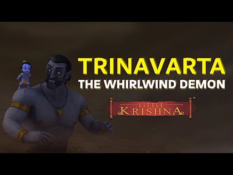 Thumbnail: Trinavarta - the whirlwind demond killed by little Krishna