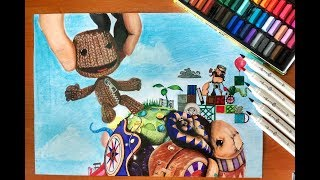 Speed Drawing: Little Big Planet