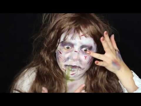 The exorcist makeup tutorial! Featuring mehron youtube.