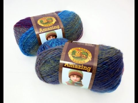 Review Of Lion Brand Amazing Yarn Youtube