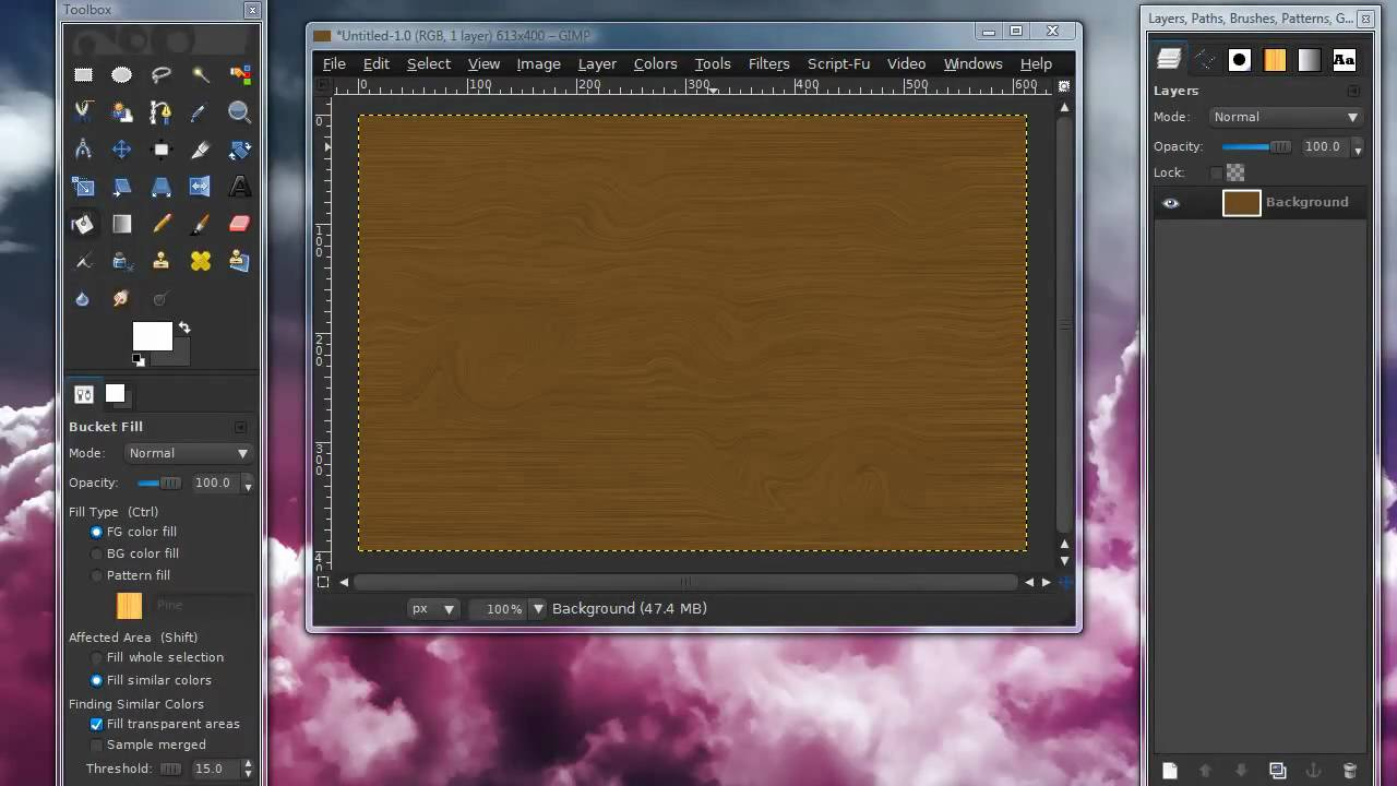 how to add textures to gimp