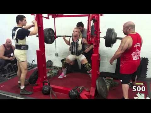 Gracie V - 500 lb Squat @ WS (Circa Max Phase) June 8/2015