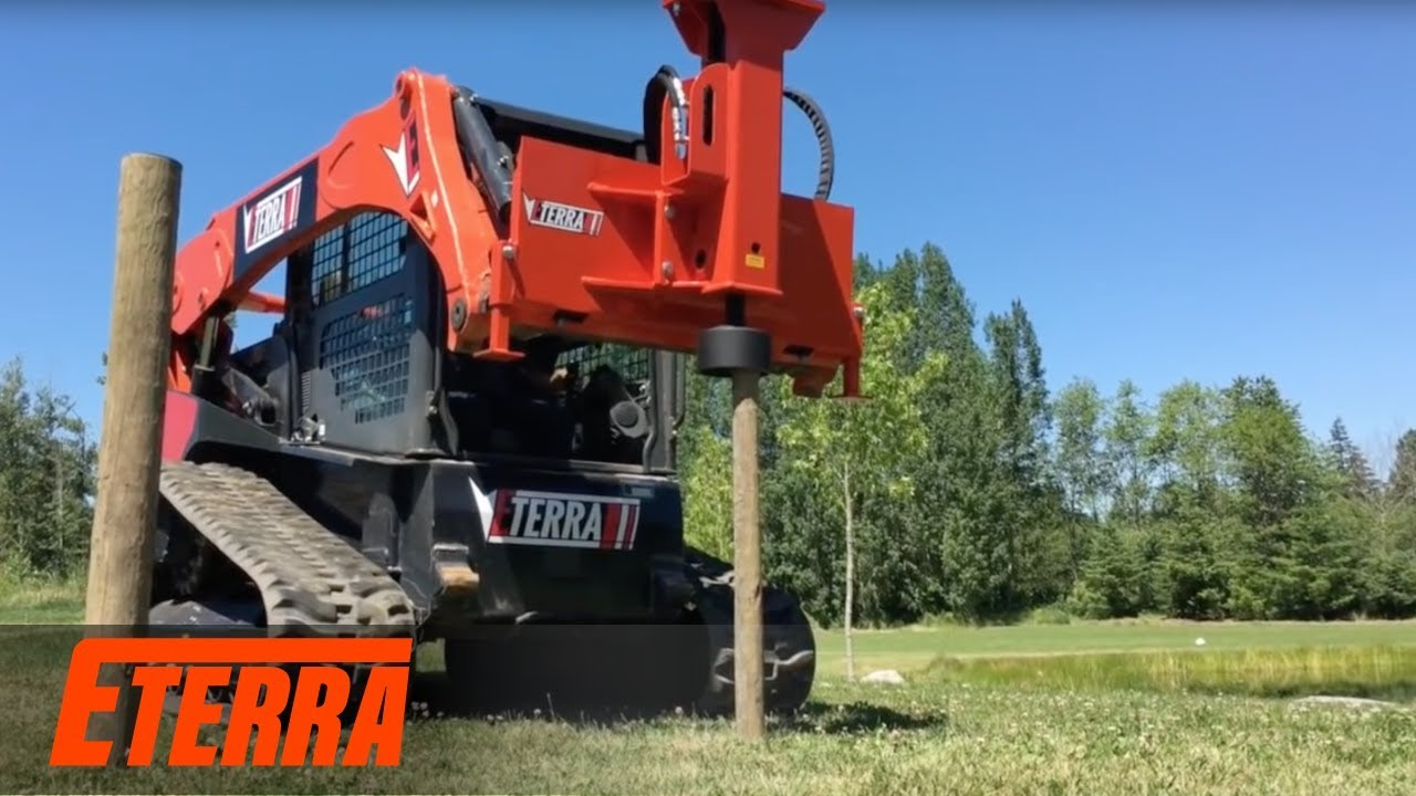 Skid Steer Breaker Style Post Driver | Eterra