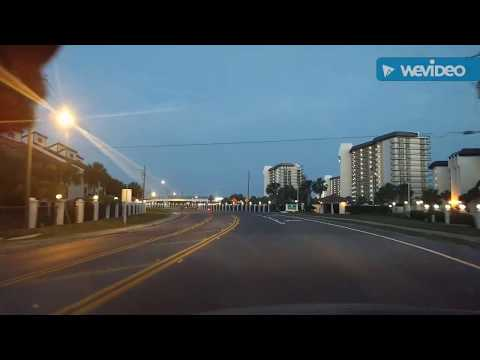 Driving through Panama City Beach FL