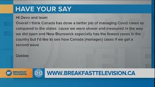 Do you think Canada is handling COVID well?
