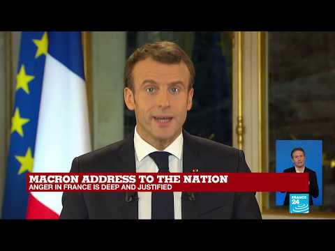 REPLAY: Macron addresses the nation on Yellow Vest protests
