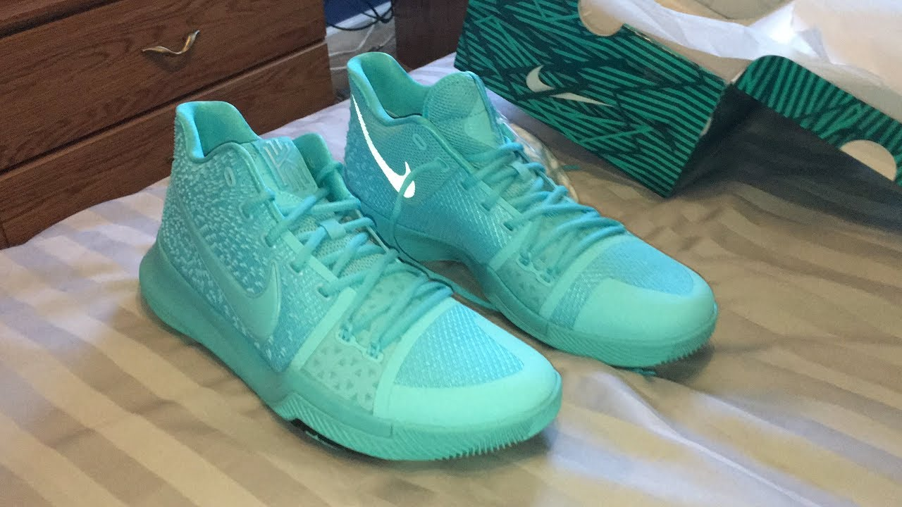 "d0c31c348134 Shoe Unboxing  Nike Kyrie 3 ""Aqua"". - YouTube"