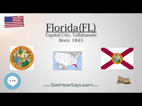 FLORIDA - The 27th State of America | EYNTK  about The States & Territories ❤️🌎🔊✅