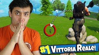 VITTORIA REALE con il LANCIARAZZI !? - FORTNITE IT...