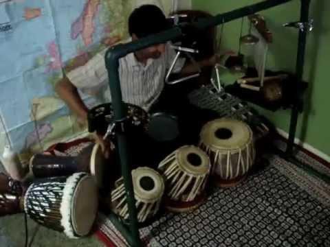 MULTI-PERCUSSION SOLO, NEEL K AGRAWAL, Junkyard Gamelan drum