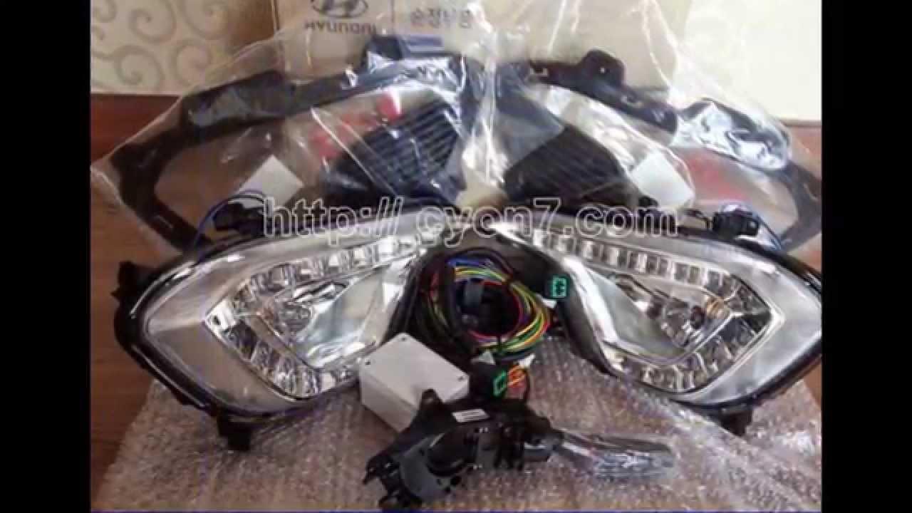 medium resolution of 2014 2016 hyundai santa fe 7 passenger fog light lamp complete kit wiring harness mf sw