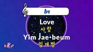 [KPOP MR 노래방] 사랑 - 임재범 (b1 Ver…