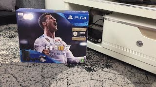Unboxing PS4 2018 انبوكسينغ بلاي ستيشن 4 سليم 2018 مع فيفا 18