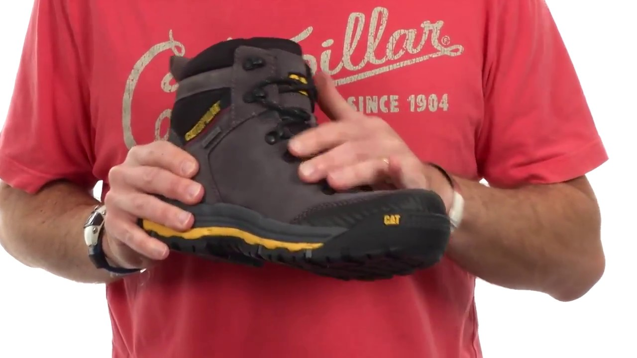 Sepatu Safety Caterpillar Munising Waterproof Dark Shadow Original Boots