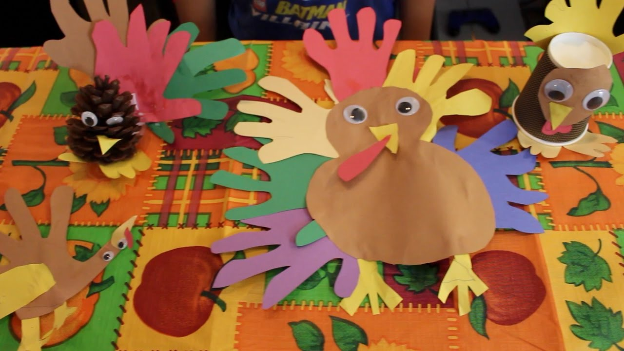 Thanksgiving arts and crafts for kids 5 different for Thanksgiving turkey arts and crafts