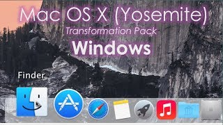 Tema de Mac OS X (Yosemite) Para Windows 7/8.1 - Transformation Pack