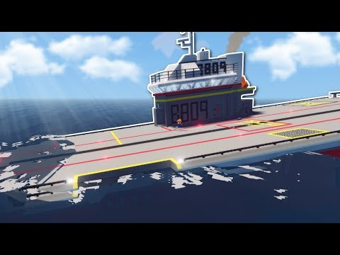 SINKING AIRCRAFT CARRIER SURVIVAL! - Stormworks Multiplayer Gameplay - Sinking Ship Survival