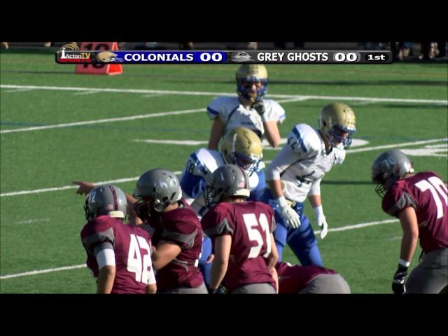 Colonials Football Week 11 vs Westford 11/26/15