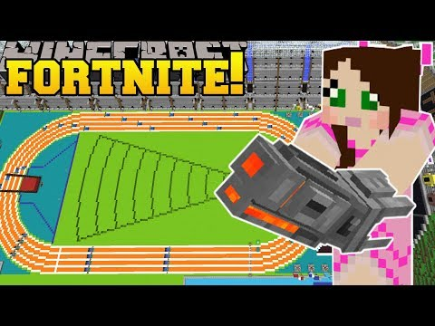 Minecraft: OLYMPICS STADIUM - FORTNITE BATTLE ROYALE - Modded Mini-Game
