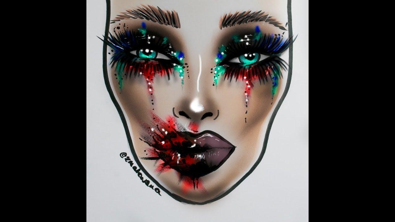 Zmalowana Facechart Series – Halloween ART