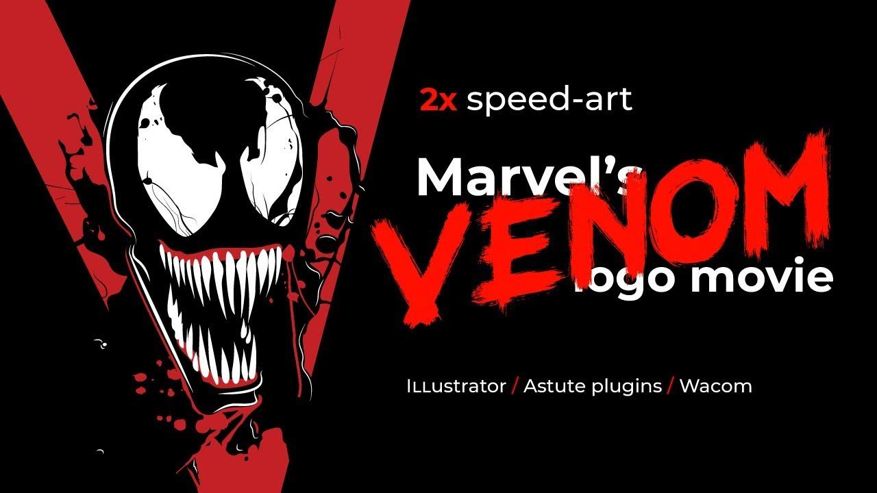 Venom Grin Vector: Illustrator: How To Draw Marvel's Venom Logo