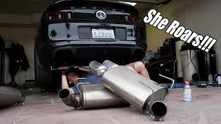 Making my exhaust 10x LOUDER! Ford Racing Sport axle back install on GT500!!!