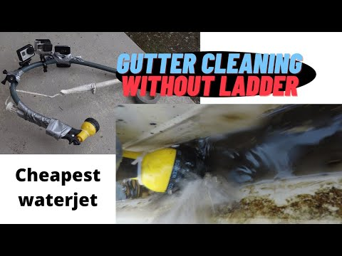 Two Story House: Cheapest High Gutter Cleaning Without Ladder