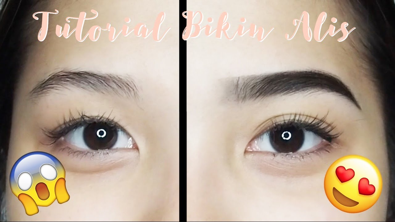 eyebrow routine tutorial tutorial bikin alis mudah